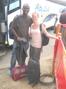 Willard and I getting ready to head back from Zimbabwe to Johannesburg