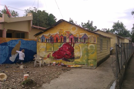 Finished mural by Carlos Baret and Federico Velasquez