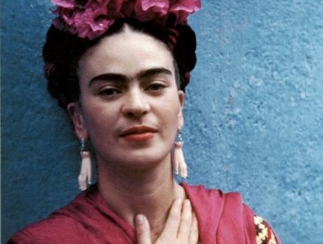 Frida Kahlo eyes radiate with her creative energy