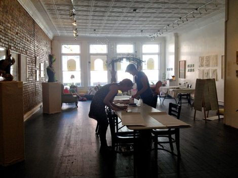 Collaborative Drawing Session with the Paradise Garden Project at The Carrack Modern Art (Photo Credit: Laura Ritchie)